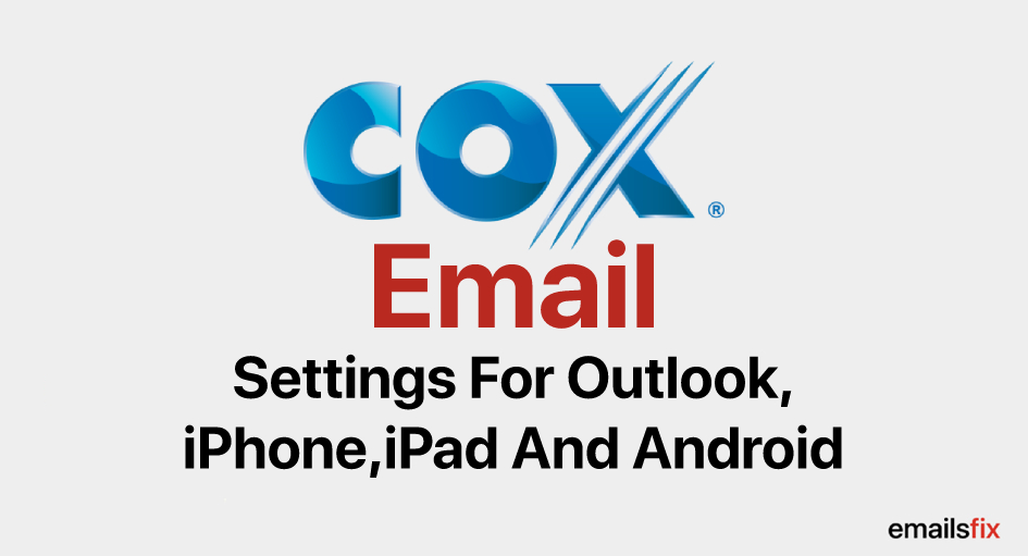 Cox.net Email settings