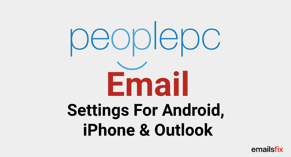 PeoplePC Email Settings