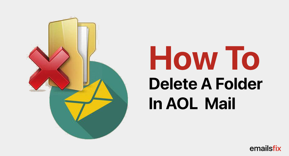how to delete a folder in aol mail