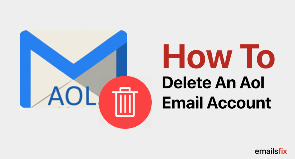 how to delete an aol email account