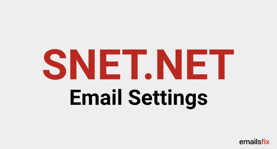 SNET.NET Email Settings