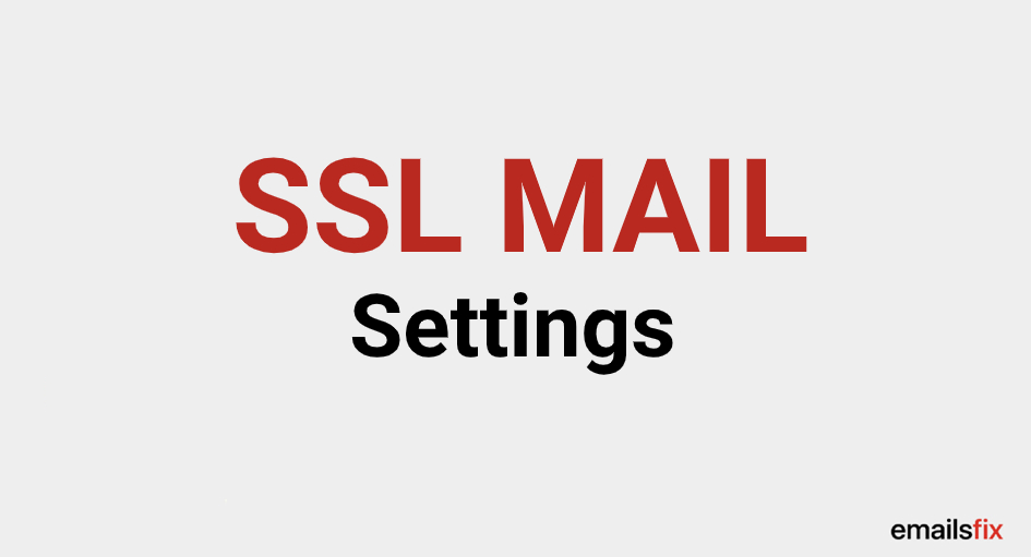 SSL MAIL Settings