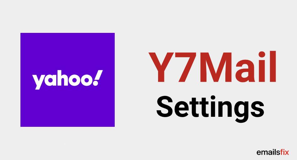 y7mail settings