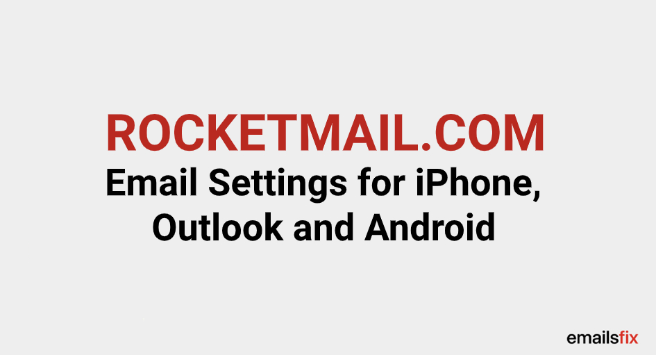 Rocketmail email server settings