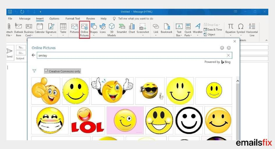 Smiley - How to Add Emojis to Outlook